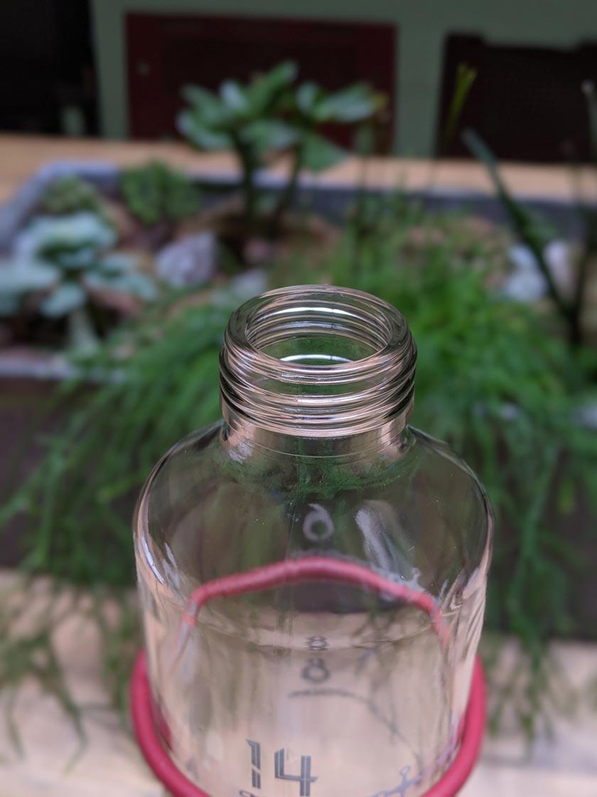 ZeitBuddels Trinkflasche Öffnung