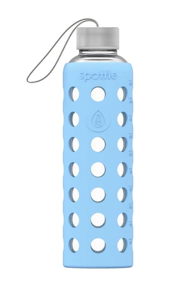 Spottle Glas-Trinkflasche mit blauer Glastrinkflasche 550ml